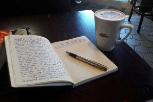 Picture of writing and coffee mug