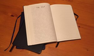 3 notebooks used in The Rescued Year
