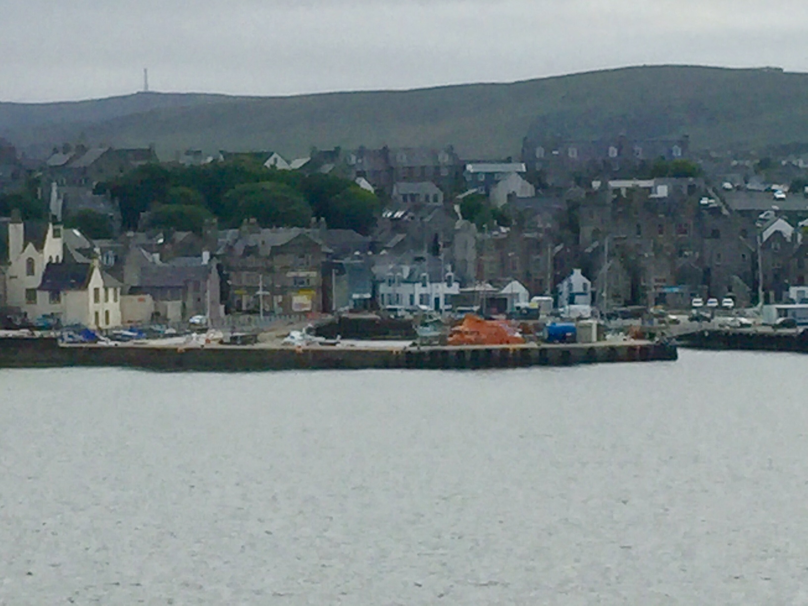Lerwick viewed from the sea