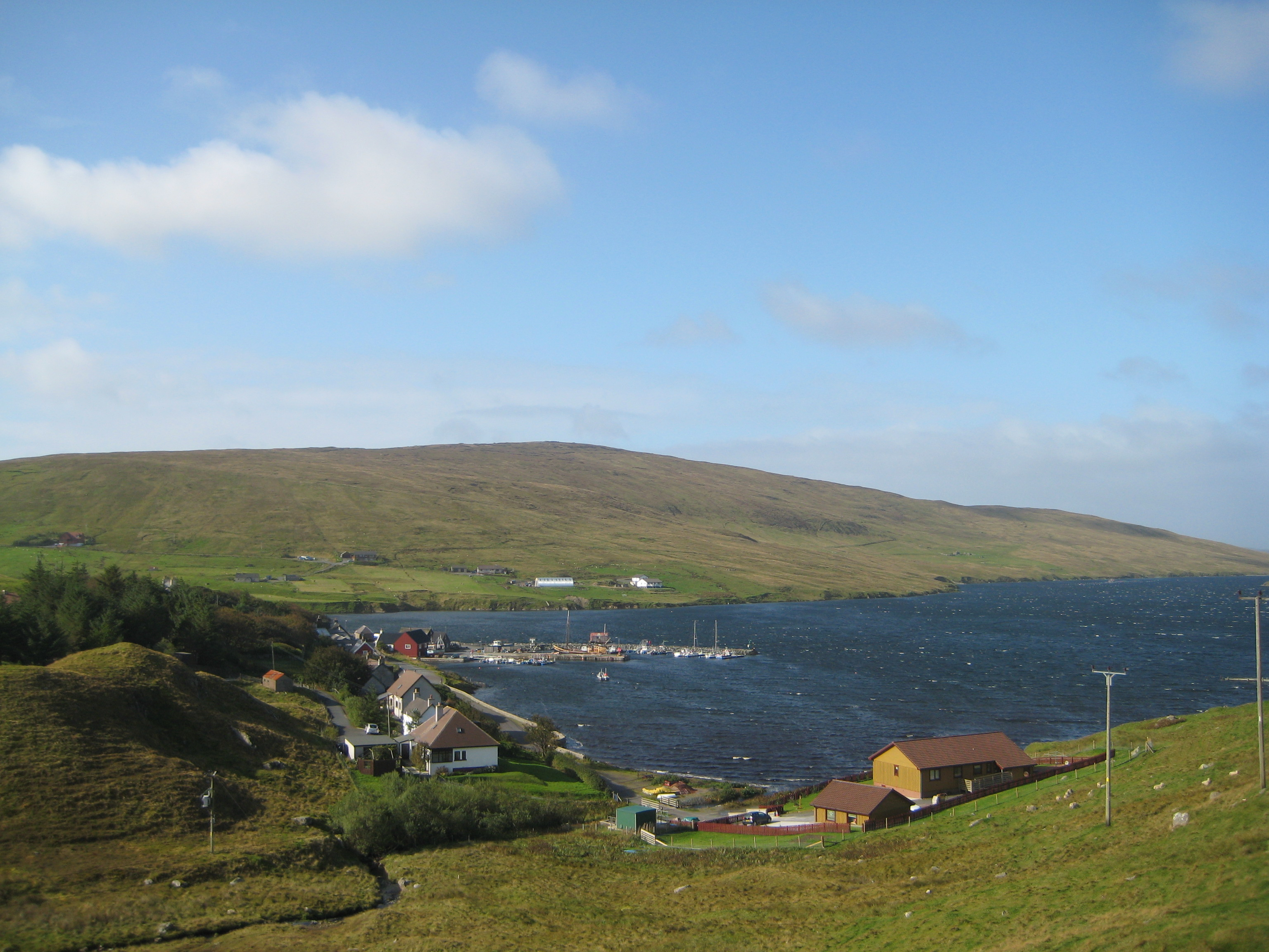 Pretty village of Voe, on my way back from The North