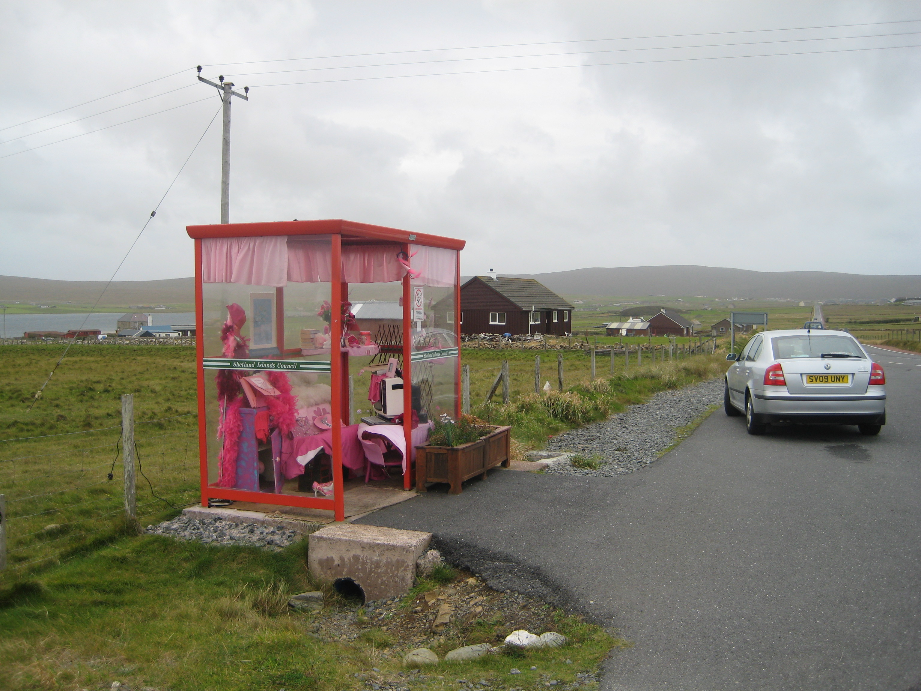 The Haroldswick bus stop. Yes, really!